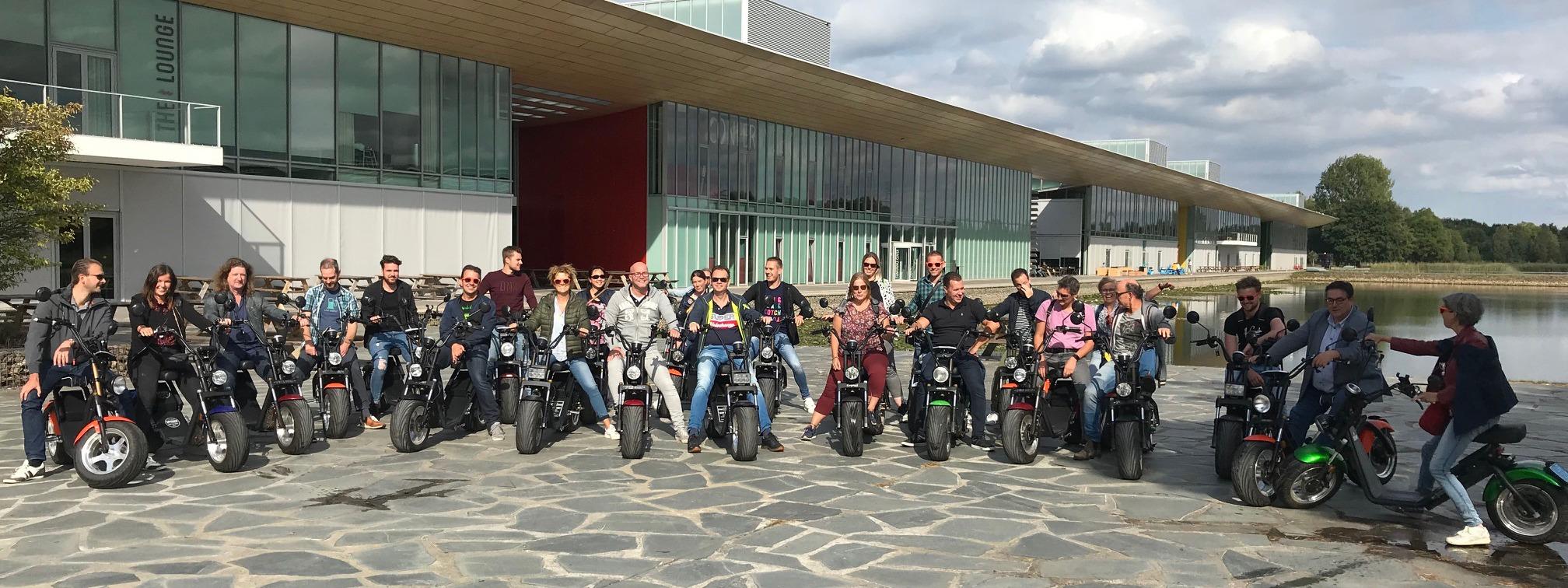 eindhoven-bedrijfsuitje -scooter-tocht